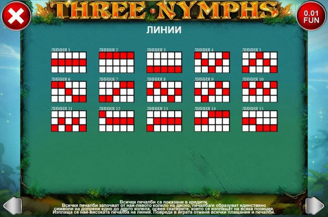 Play slots at Powerspins: Powerspins featuring the Video Slots Three Nymphs with a maximum payout of $225,000
