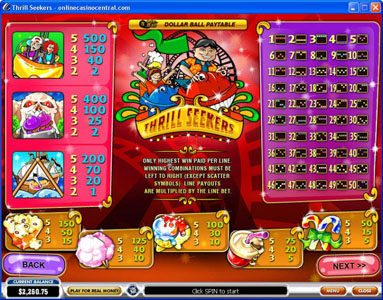 Rey8 featuring the Video Slots Thrill Seekers with a maximum payout of $200,000