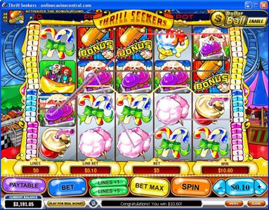 Grand Reef featuring the Video Slots Thrill Seekers with a maximum payout of $200,000