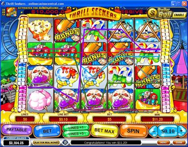 Windows Casino featuring the Video Slots Thrill Seekers with a maximum payout of $200,000