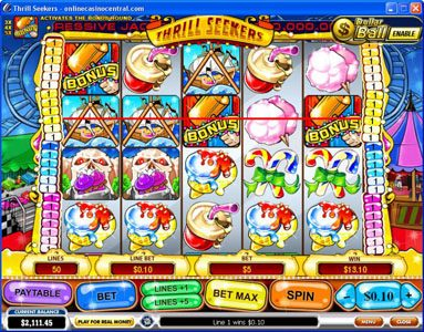 City Tower featuring the Video Slots Thrill Seekers with a maximum payout of $200,000