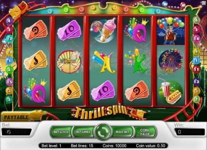 Play slots at Go Wild: Go Wild featuring the Video Slots Thrill Spin with a maximum payout of $25,000