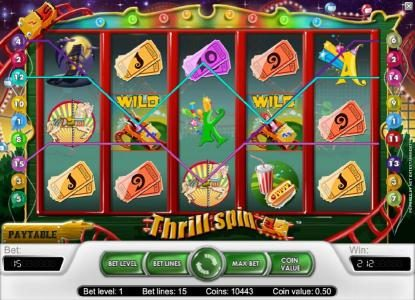 BGO Vegas featuring the Video Slots Thrill Spin with a maximum payout of $25,000