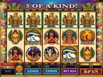 Play slots at Intercasino: Intercasino featuring the Video Slots Throne of Egypt with a maximum payout of $10,000