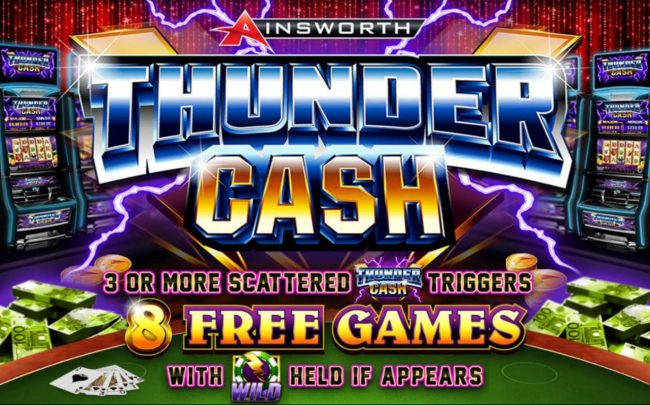 Play slots at Jaak Casino: Jaak Casino featuring the Video Slots Thunder Cash with a maximum payout of $200,000