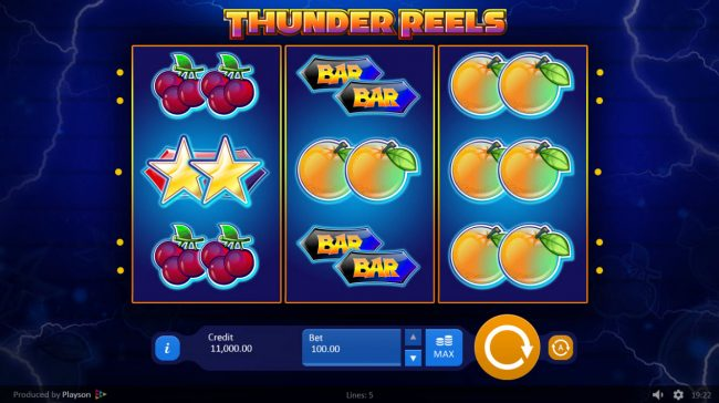 Spintropolis featuring the Video Slots Thunder Reels with a maximum payout of $15,000