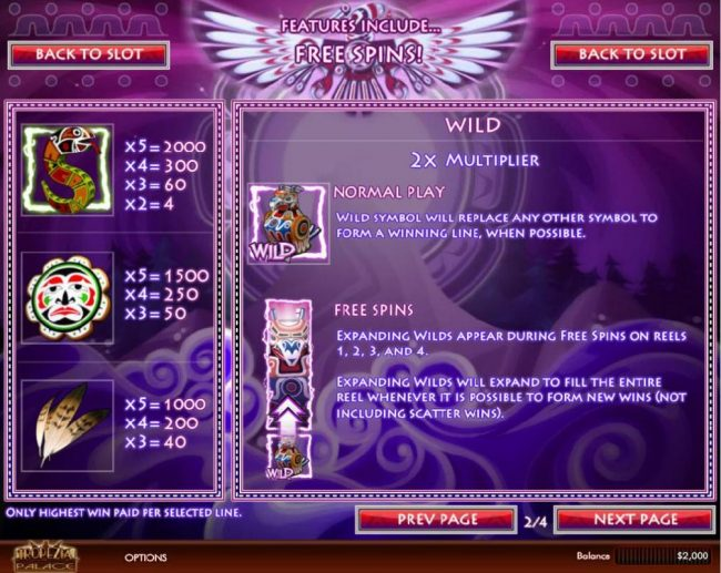 Supreme Play featuring the Video Slots Thunderbird with a maximum payout of $5,000