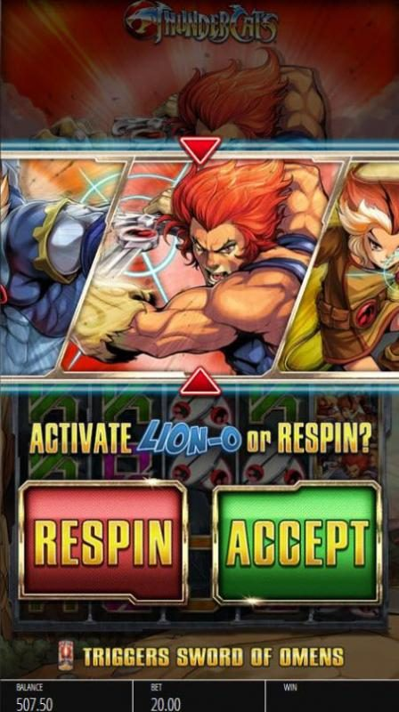Norske Casino featuring the Video Slots Thundercats with a maximum payout of $250,000