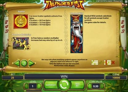 Play slots at Spinzilla: Spinzilla featuring the Video Slots Thunderfist with a maximum payout of $500
