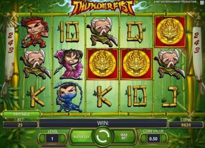 Casino Red Kings featuring the Video Slots Thunderfist with a maximum payout of $500