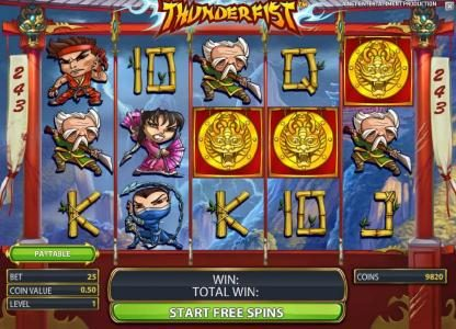 Winner Million featuring the Video Slots Thunderfist with a maximum payout of $500