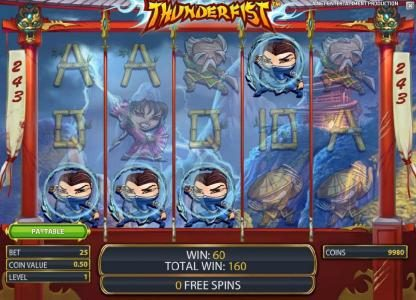 Hello featuring the Video Slots Thunderfist with a maximum payout of $500