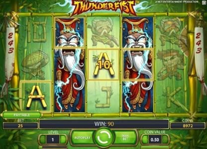 Vegas Baby featuring the Video Slots Thunderfist with a maximum payout of $500