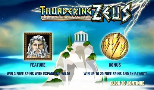 Play slots at Slots Angel: Slots Angel featuring the Video Slots Thundering Zeus with a maximum payout of $100,000