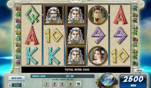 Hello featuring the Video Slots Thundering Zeus with a maximum payout of $100,000