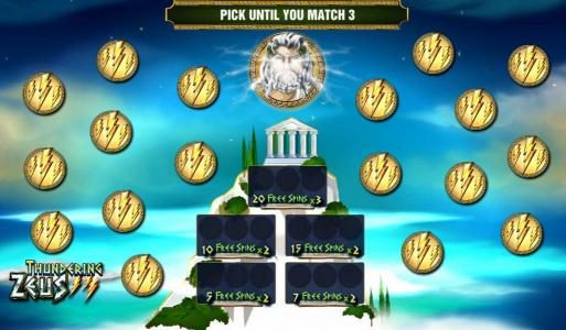 Prime Slots featuring the Video Slots Thundering Zeus with a maximum payout of $100,000