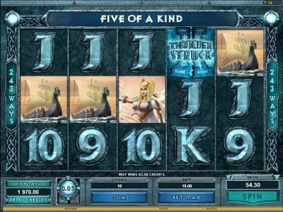 River Nile featuring the Video Slots Thunderstruck II with a maximum payout of $1,200,000