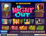Joyland Casino featuring the Video Slots A Night Out with a maximum payout of Jackpot