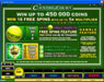 Mummys Gold featuring the Video Slots Centre Court with a maximum payout of $1,112,500