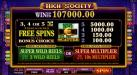 Shadowbet featuring the Video Slots High Society with a maximum payout of $6,000