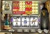 Liberty Slots featuring the Video Slots King Tut's Treasure with a maximum payout of 20,000x