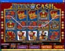 Slots Cafe featuring the Video Slots Kings of Cash with a maximum payout of $500,000