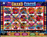 Jackpot City featuring the Video Slots The Grand Circus with a maximum payout of 1,000x