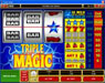 GeoBet featuring the Video Slots Triple Magic with a maximum payout of $160,000