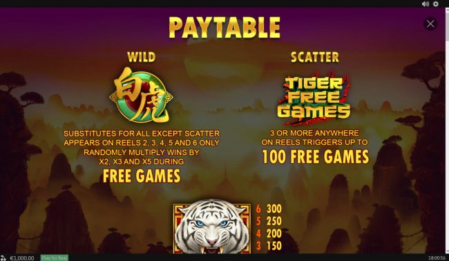 PropaWin featuring the Video Slots Tiger Claw with a maximum payout of $80,000