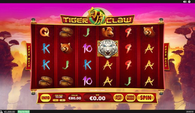 Play slots at Sky Kings: Sky Kings featuring the Video Slots Tiger Claw with a maximum payout of $80,000