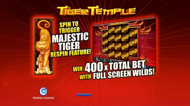 Dreamy 7 featuring the Video Slots Tiger Temple with a maximum payout of $32,000