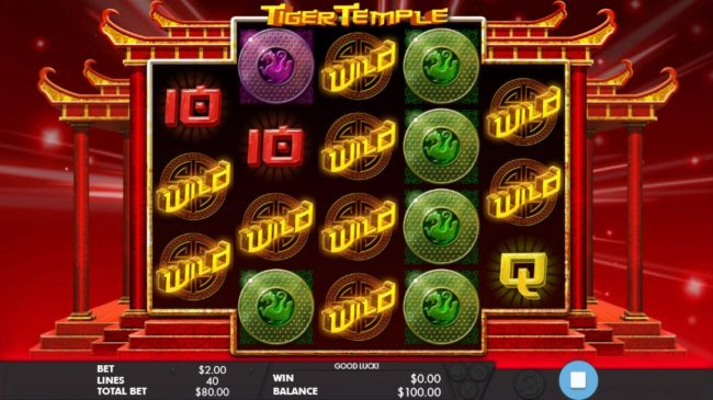 HippoZino featuring the Video Slots Tiger Temple with a maximum payout of $32,000