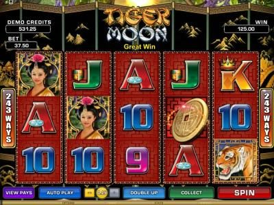 Quatro featuring the Video Slots Tiger Moon with a maximum payout of $468,000