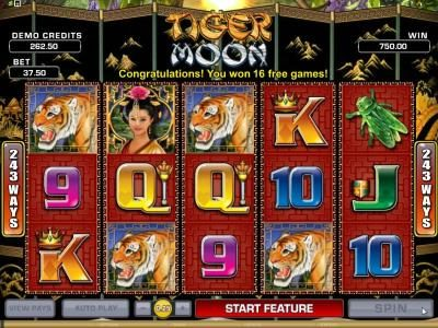 Villento featuring the Video Slots Tiger Moon with a maximum payout of $468,000