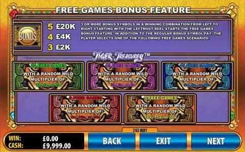 Lucky Bets featuring the Video Slots Tiger Treasures with a maximum payout of $20,000