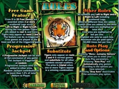 Play slots at Slotnuts: Slotnuts featuring the Video Slots Tiger Treasures with a maximum payout of $250,000