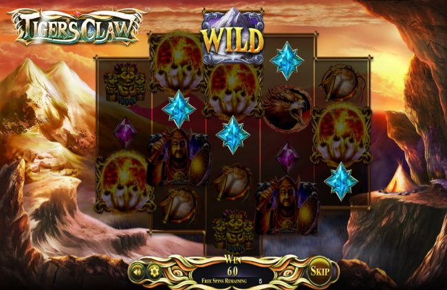 All Wins Casino featuring the Video Slots Tigers Claw with a maximum payout of $800,000