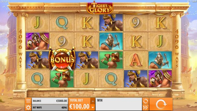 Crazy vegas featuring the Video Slots Tiger's Glory with a maximum payout of $120,000