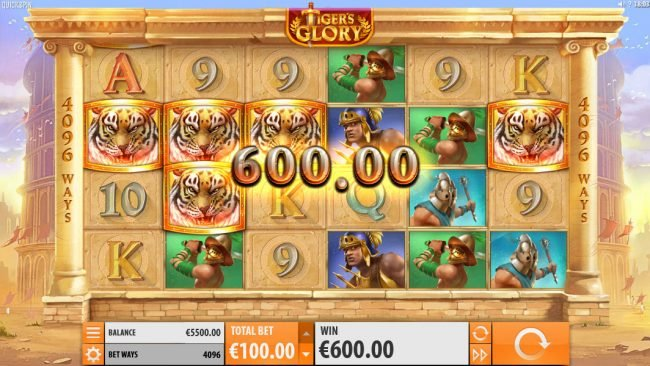 Amsterdam Casino featuring the Video Slots Tiger's Glory with a maximum payout of $120,000