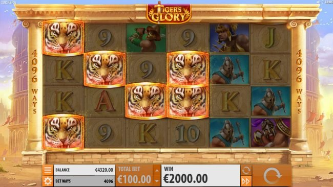 Grand Ivy featuring the Video Slots Tiger's Glory with a maximum payout of $120,000