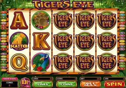 Play slots at La Vida: La Vida featuring the Video Slots Tiger's Eye with a maximum payout of $250