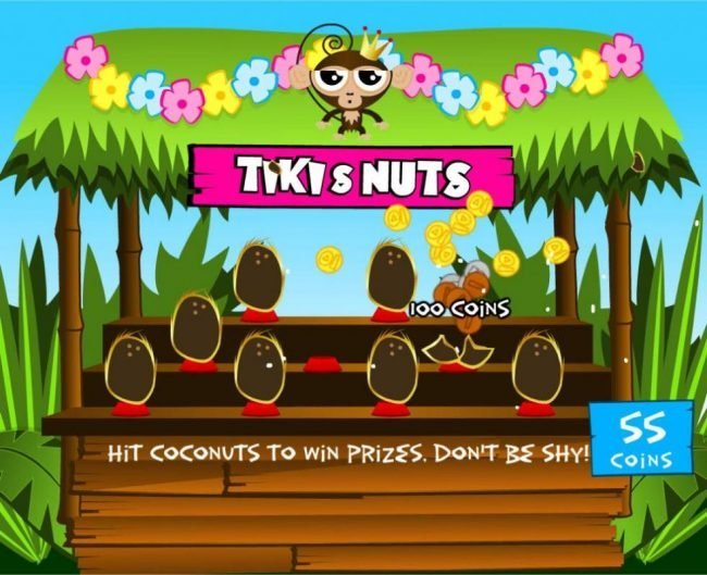 Hitting the right cocnuts will award you with a cash prize.