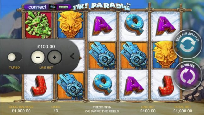 Coral featuring the Video Slots Tiki Paradise with a maximum payout of $25,000