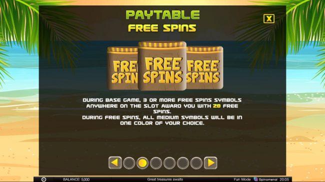 Tiki Rainbow :: Free Spins Rules