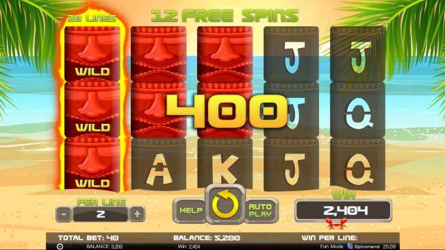 Tiki Rainbow :: Multiple winning combinations