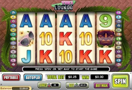 Play slots at Lincoln: Lincoln featuring the Video Slots Tiki Lounge with a maximum payout of $50,000