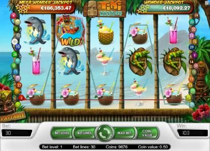EU Casino featuring the Video Slots Tiki Wonders with a maximum payout of $20,000