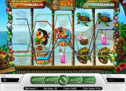 Play slots at LaFiesta: LaFiesta featuring the Video Slots Tiki Wonders with a maximum payout of $20,000