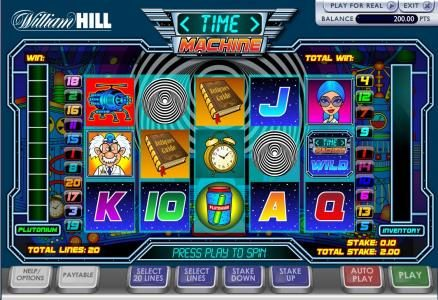 Play slots at Windows: Windows featuring the Video Slots Time Machine with a maximum payout of $100,000