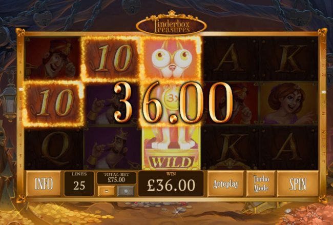 Omni featuring the Video Slots Tinderbox Treasure with a maximum payout of $18,750